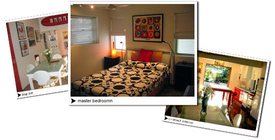 Stradbroke Island interior accommodation pictures